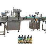Dy koka makina mbushëse plotësisht automatike për mbushjen e shisheve të qelibarit 30 ml